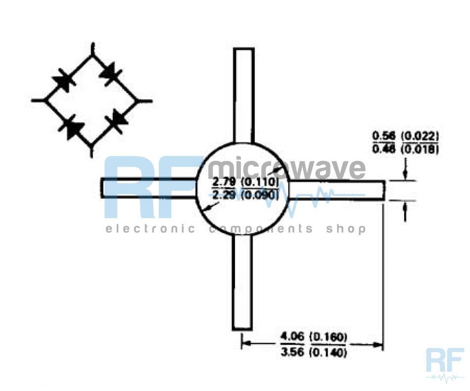 Ring quad Schottky diode
