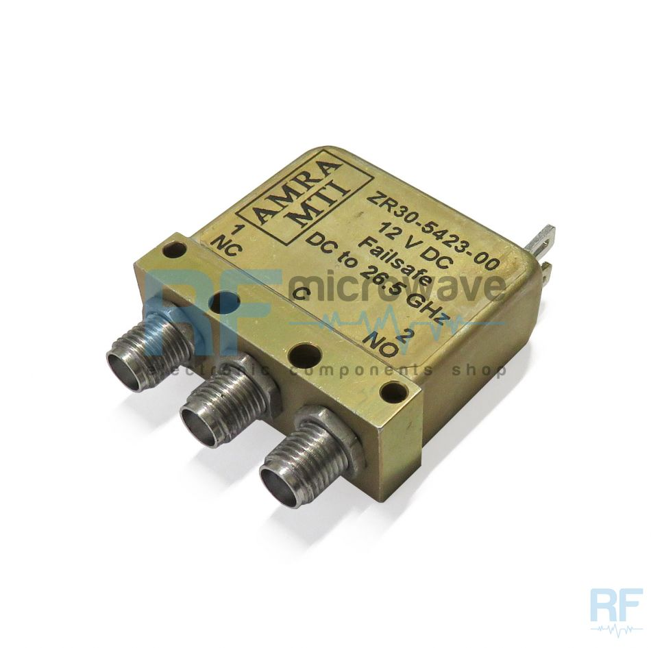 Zr30 5423 00 Amra Mti Electromechanical Coaxial Relay Spdt 12v Dpdt Latching 12vdc Failsafe
