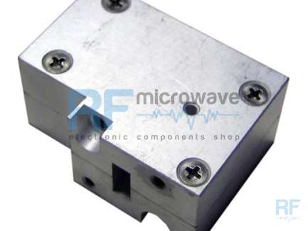 WR42 18-26.5 GHz waveguide support that can be used as spacer for a waveguide extension.