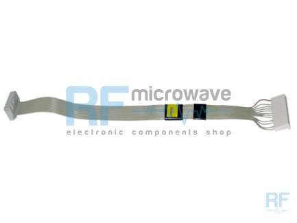 23 cm ribbon cable with one 14-pin IDC female connector with polarization notch and one 14-pin KK female connector 2.54 mm pitch.