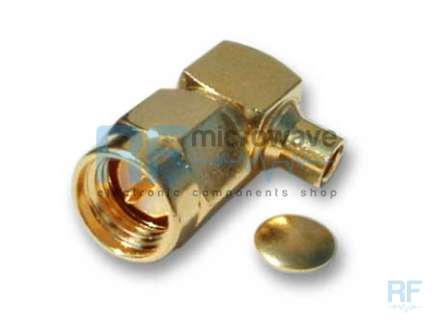 Rosenberger 32S246-272F3 Right angle solder SMA male coaxial connector
