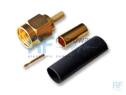 M/A-COM 2031-5314-00 Crimp SMA male coaxial connector