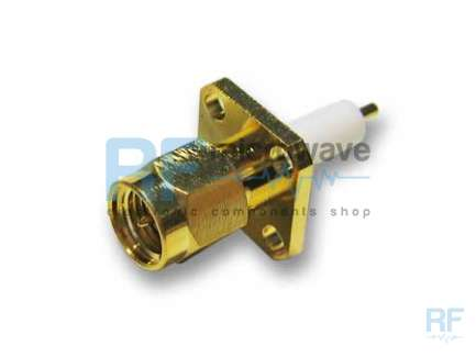 MA-COM 2051-1201-00 Panel mount SMA male coaxial connector