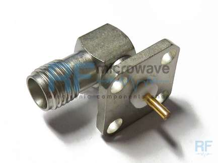 M/A-COM 2054-5508-02 Panel mount right angle SMA female coaxial conector