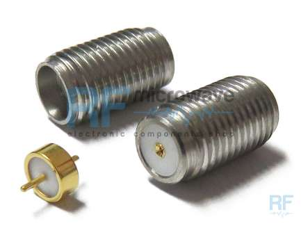 M/A-COM 2058-5329-02 Bulkhead SMA female coaxial connector with pin