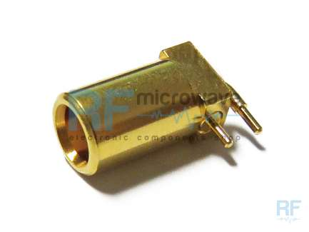 Right angle PCB mount MCX jack coaxial connector
