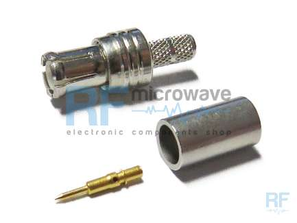 Huber+Suhner 11_MCX-50-2-16/133_NH Crimp MCX plug coaxial connector