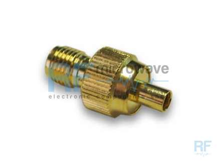 Amphenol SMAF-MMCXF1-3GT3G-50 MMCX jack to SMA female coaxial adapter