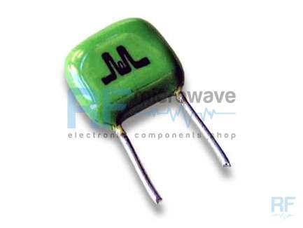 Microelectronics Ltd. SHQ34-100C Leaded HF and VHF ceramic capacitor, 10 pF, 500V
