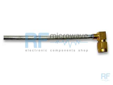 Cable assembly, SMA right angle male, UT141-AL, 13 cm