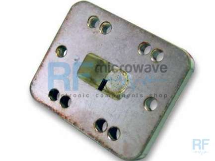 WR75 waveguide termination, 11 - 14 GHz band, 3W, 6 holes rectangular flange, with tuning screw