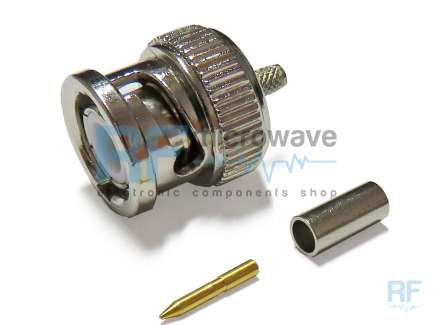 QAXIAL BNC02-05A-01 Crimp BNC male coaxial connector