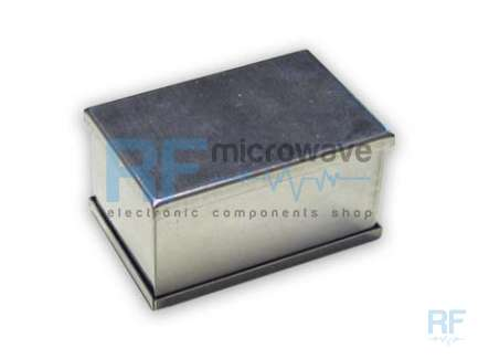 Tin plated 0.5 mm thick sheet metal boxes, external size 148 x 55 mm, H 30 mm