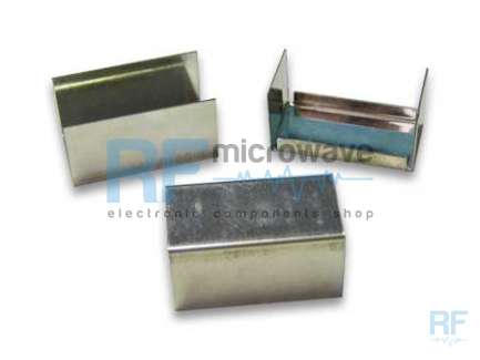 Tin plated 0.5 mm thick sheet metal boxes, external size 74 x 20 mm, H 20 mm