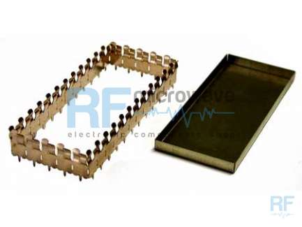 Finger metallic box with cover, size 61 x 40.6 mm (pin interaxle), H 9 mm (internal)