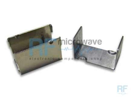 Very robust metallic box, 1 mm thickness, external size 36 x 20 mm, H 23 mm, with fixing clips