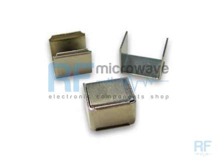 Nichel iron box, base thicknes 1mm, cover thickness 0.7 mm, external size 22.5 x 15 mm, H 19 mm, with fixing clips