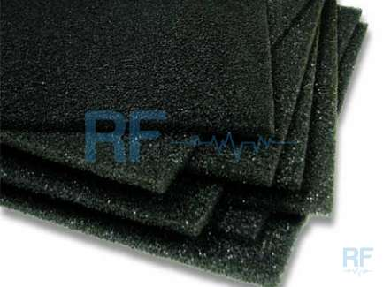 Microwave foam absorber sheet
