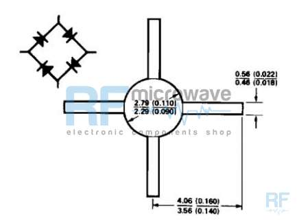 Hewlett-Packard 5082-2831 Ring quad Schottky diode