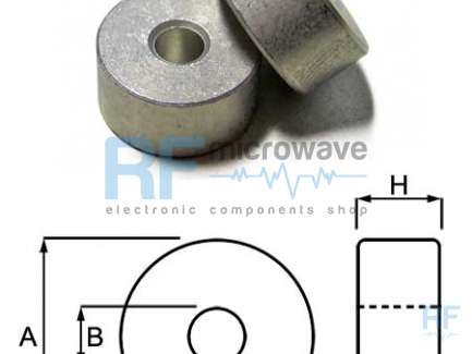 Anodized aluminum spacer, A = 12.8 mm, B = 3.9 mm, H = 6.5 mm