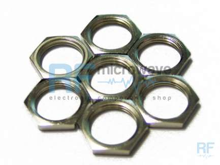 Hex nut for panel mount female N series and UHF (SO239) connectors