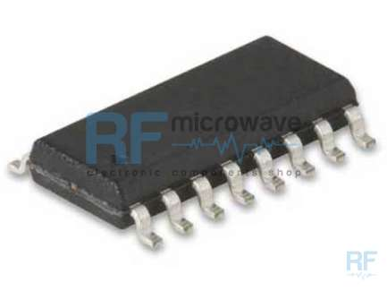 Fujitsu MB87076 CMOS PLL synthesizer integrated circuit, SMD FPT-16P-M02