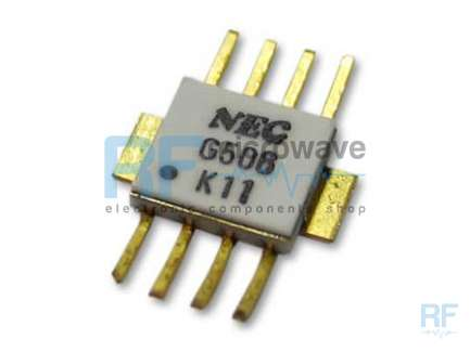 NEC UPG506B Dynamic prescaler integrated circuit, divide by 8, hermetic ceramic package