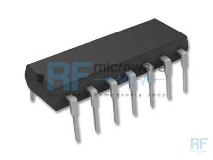 Siemens TBA120S FM IF amplifierand and demodulator integrated circuit, supply voltage 6 to 18V, 14-lead DIL package