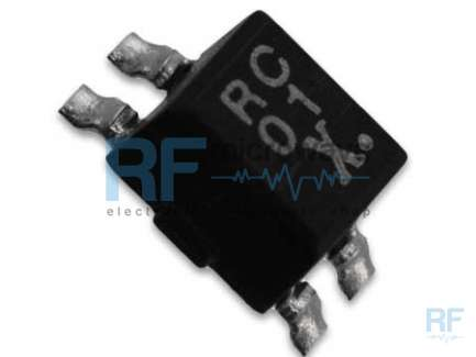 Taiyo Yuden CM04RC01T Double chocke usable as RF transformer, 1:1, 0.5 - 300 MHz, SMD