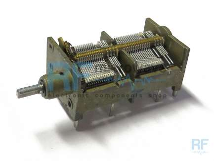 4-section air variable capacitor