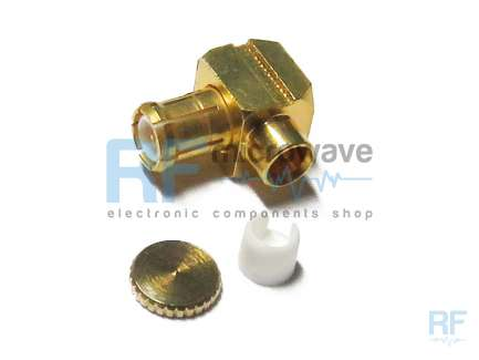 Compel 350073203 Right angle solder MCX plug coaxial connector