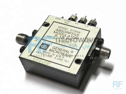 General Microwave D1954-OPT62 Attenuatore variabile e modulatore coassiale a diodi PIN, 3 - 9 GHz, 60 dB
