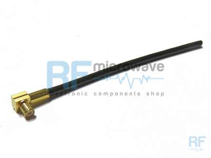 Cable assembly, MCX right angle plug, RG174, 8 cm