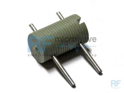 Insulated threaded screw coil support, useful space 5.2 mm, maximum 10 turns, wire Ø max 0.3 mm, max.inductance about 500 nH