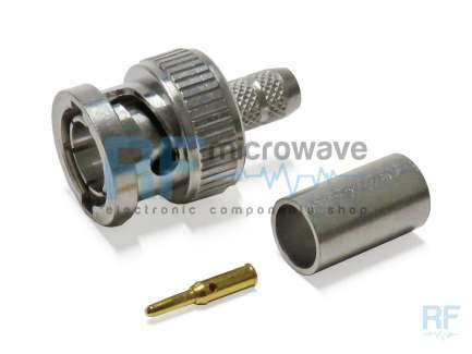 Huber+Suhner 11_BNC-75-4-36/133_NE Crimp BNC male coaxial connector