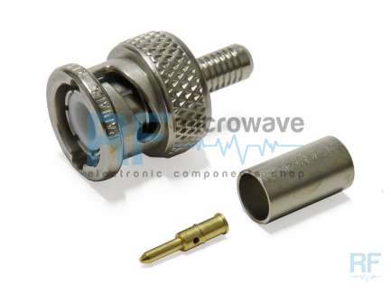 Radiall R141082000 Crimp BNC male coaxial connector
