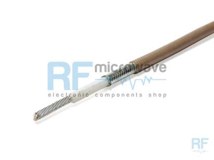 Non magnetic handyform coaxial cable with jacket (FEP)