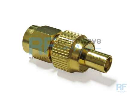 QAXIAL MCX-SMA42-02 MCX jack to SMA male coaxial adapter