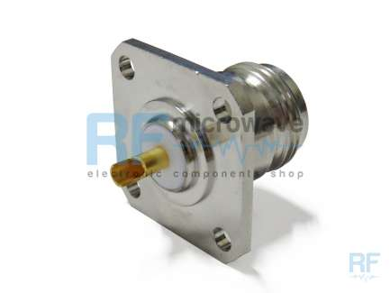 Radiall R161404117 Panel mount N female coaxial connector