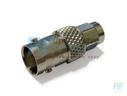 Radiall R191303000 BNC female to SMA male coaxial adapter
