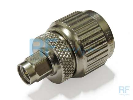 Radiall R191325000 N male to SMA male coaxial adapter