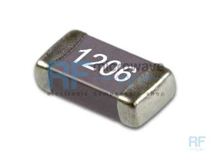 Kemet C1206C102J2GAC Wide band SMD ceramic capacitor, 1 nF, 4 MHz - 8 GHz