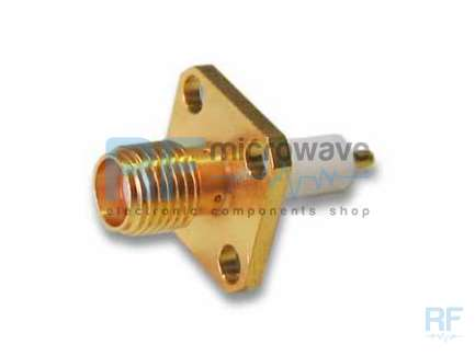 M/A-COM 2052-3837-00 Panel mount SMA female coaxial connector