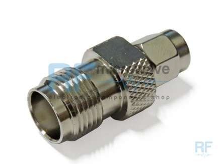 QAXIAL SMA-TNC42-01 SMA male to TNC female coaxial adapter