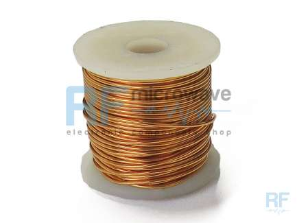 Enameled copper wire spool, ∅ 0.63 mm, AWG 22