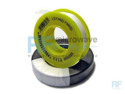 Professional PTFE insulating tape, 12 x 0.1mm, 12m spool