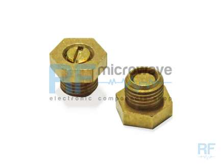 Temex TU230 Gold-plated brass ultraminiature coaxial tuning screw, M3x0.35