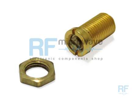 Temex AT6933-0SL Gold-plated brass coaxial tuning screw, sapphire rotor, with nut